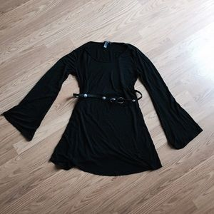 Bell Sleeves Cotton Swing Dress