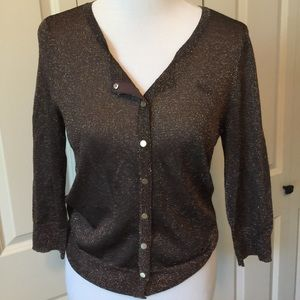 White House Black Market Sweaters - Brown and gold WHBM Cardigan