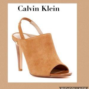 Calvin Klein Shoes - Calvin Klein Sabeen Slingback Pumps in Caramel
