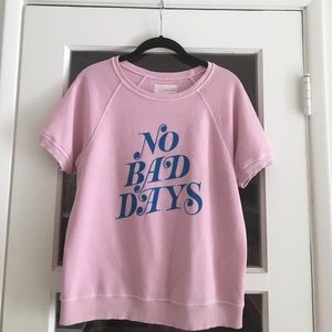ban.do Sweaters - Ban.do No Bad Days short sleeved sweater