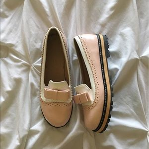 Dr. Martens Shoes - Dr. Marten inspired pink bow loafers