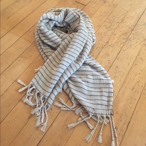 Scarf, stripes and fringe from Urban Outfitters