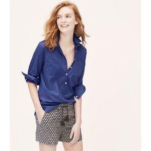 LOFT Summer Softened Shirt in Cobalt Blue