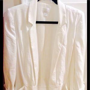 LC Lauren Conrad Jackets & Blazers - LC Lauren Conrad White Casual Blazer