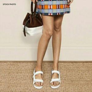 Tory Burch Shoes - TORY BURCH Leather Espadrille Strap Bumper Sandal
