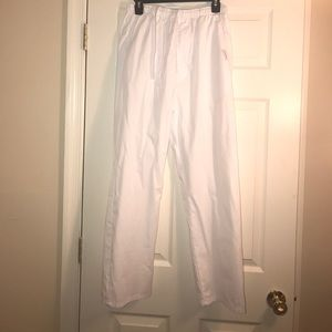 Landau Pants - White Scrub Pants Size: S
