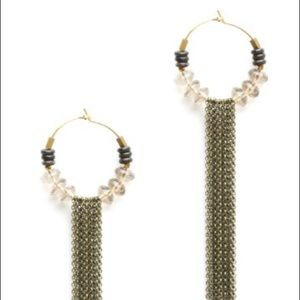 South Moon Under Jewelry - Ink and Alloy Isabella Chain Fringe Earrings