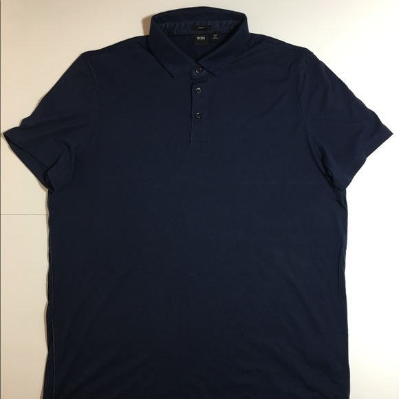 Hugo boss sold hugo boss men 39 s polo shirt xxl blue slim for Hugo boss polo shirts xxl