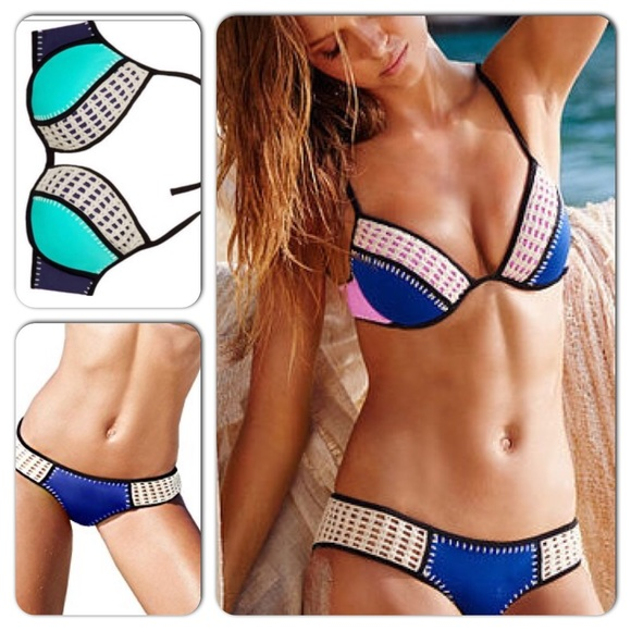 02486caa22 Victoria s Secret Crochet Surf Bikini Swim Set