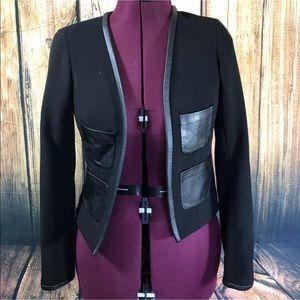 Club Monaco Jackets & Blazers - Club Monaco Lamb Leather  Trimmed Jacket