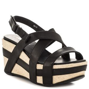 Antelope Shoes - Classic Black Antelope Wedges