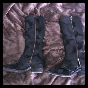 Donald J. Pliner Shoes - Donald J Pliner Devi Black Leather Suede Boot