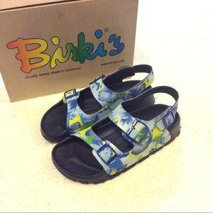 Birkenstock Shoes - 🌺 New | Birki's Tropical Garden Blue Sandals 🌺