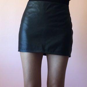 Are You Am I AYAI Kell Lambskin Leather Mini Skirt