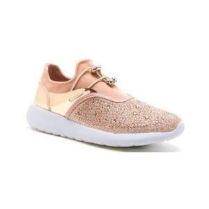 Shoes - ❗️LAST PAIR❗️Rose Gold bedazzle sneakers