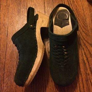 no. 6 Shoes - No. 6 green suede medium heel, 39
