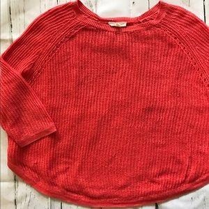 Coral Eileen Fischer Lightweight Sweater