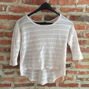 Annabelle Tops - High Low Crochet Top
