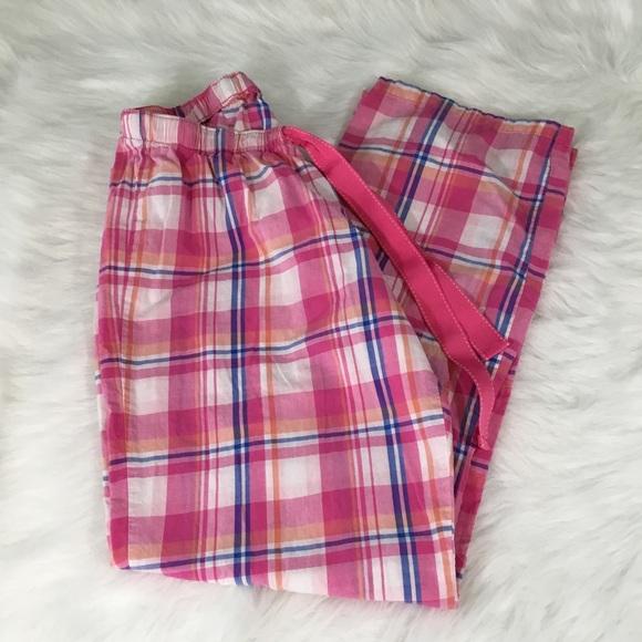 Old Navy Intimates Amp Sleepwear Womens Medium Pink Plaid