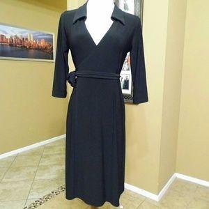 Japanese Weekend Dresses & Skirts - Japanese Weekend wraparound Maternity dress black