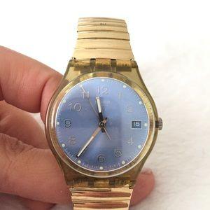 Swatch Accessories - Swatch gold retro watch