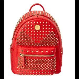 MCM Handbags - 🔥MCM DIAMOND STARK BACKPACK - RED - NWOT $2,550🔥