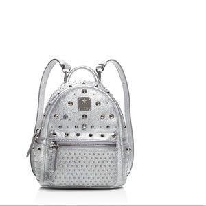 MCM Handbags - MCM MINI SPECIAL STARK BACKPACK SILVER NWOT