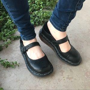 Dr. Martens Shoes - Dr Martens Black Mary Jane Flats