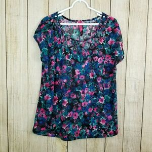 Pure Energy Tops - Floral tunic top