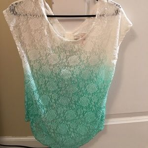 body glove Tops - Ombre mint lace top