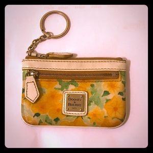 Dooney & Bourke Handbags - Dooney & Bourke Floral Coated-Canvas Coin Purse