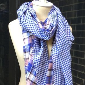 American Colors Accessories - Double-Sided Mediterranean Plaid Scarf
