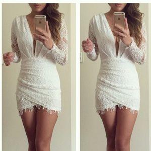 Dresses & Skirts - RSERVED BUNDLE White lace mini dress
