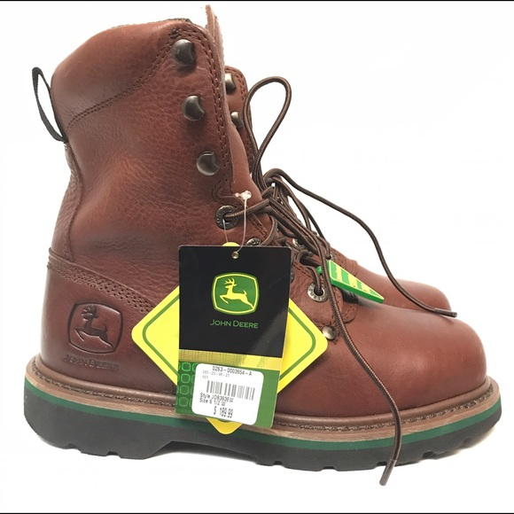dc76ea48bd8 John Deere Steel Toe Boots 6.5 New Leather Safety NWT