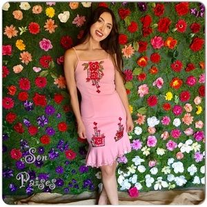 🆕Floral Pink Patch Dress