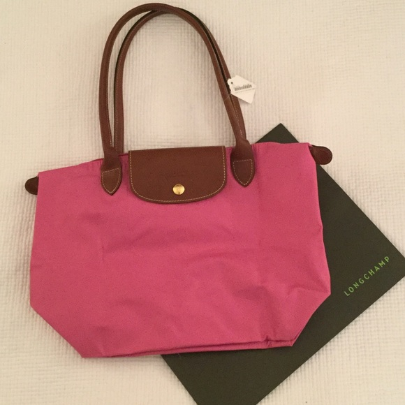 Longchamp size small long handle pink bag 3b052fa125c91