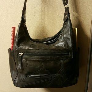Jaclyn Smith Handbags - Black vinyl purse