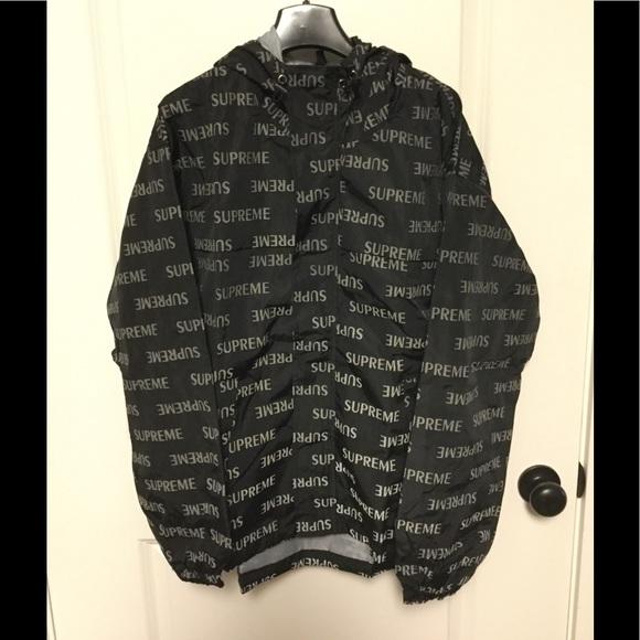supreme jackets coats repeat 3m jacket poshmark