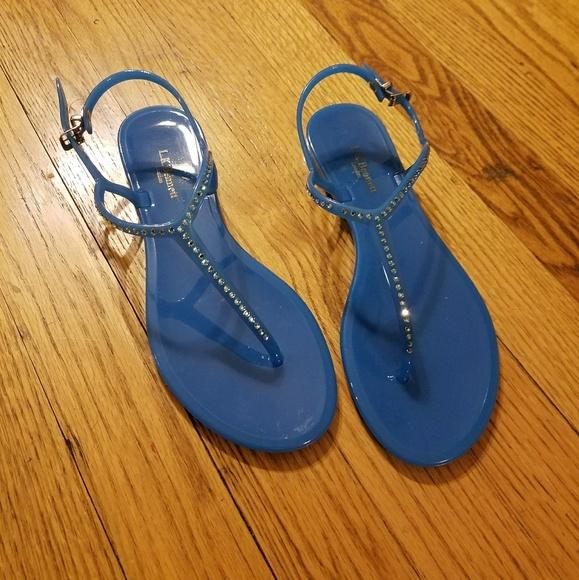 43 Off Lk Bennett Shoes Lk Bennett T Strap Blue Crystal