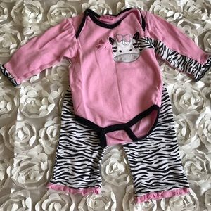 Carter's Other - Carter's Zebra Baby Girl Outfit 6-9m