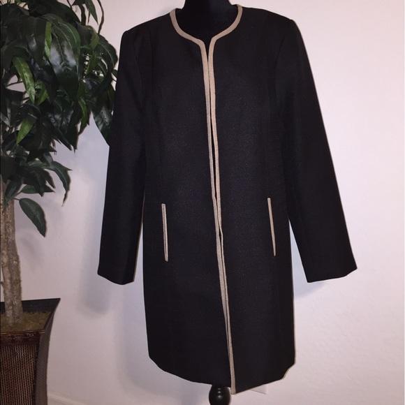 e7e379b7ed1 isabella Jackets   Blazers - ISABELLA jacket mid length size 18 black with  tan