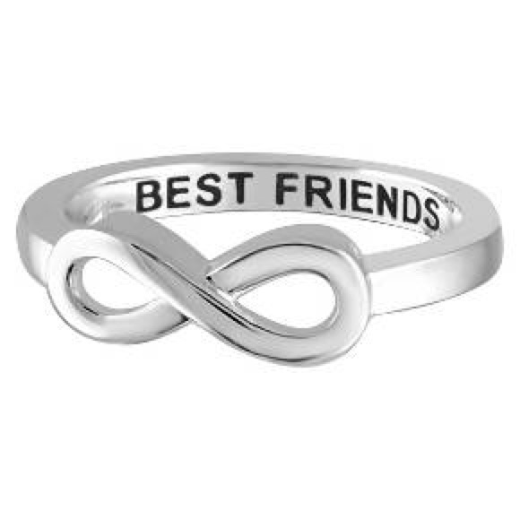 kate spade silver bff best friend engraved infinity