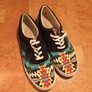 Bucket Feet Shoes - Bucket Feet Multi Print Lace up Sneakers size 8