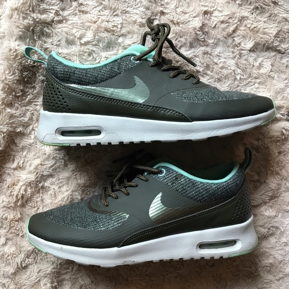 50 off nike shoes nike air max thea mint olive green. Black Bedroom Furniture Sets. Home Design Ideas