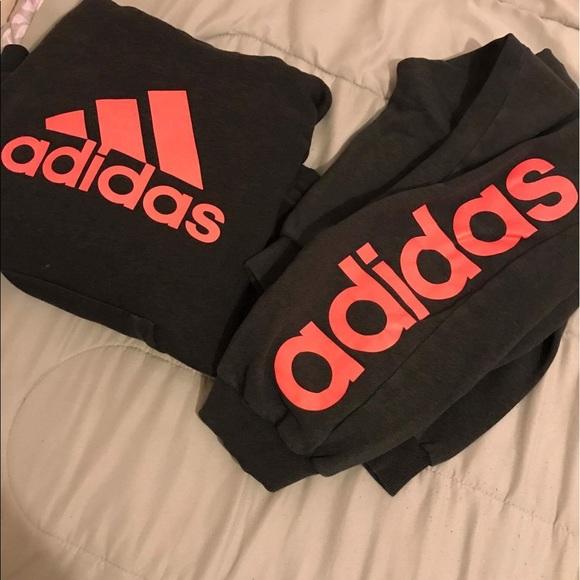 adidas hoodie and sweatpants