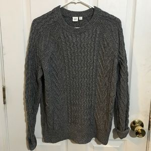 NWT Super Cozy Grey Cable Knit Sweater