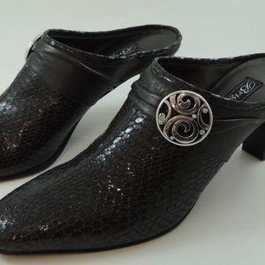 Brighton Shoes - Brighton Snakeskin Mules