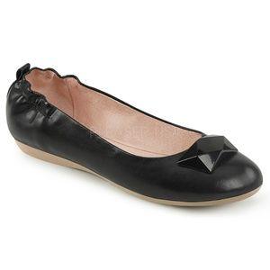 Shoes - Pin Up Shoes Ballet Flats Vintage Girl 50s Black