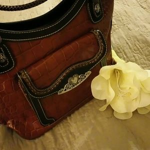 Handbags - Faux crocodile leather purse