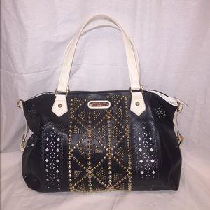 Nicole Lee Handbags - Large Black/white/gold studded Nicole Lee USA Tote